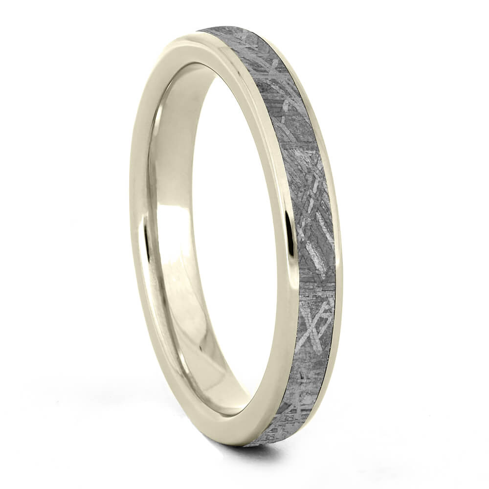 Round Women's Meteorite Ring in White Gold-4380WG - Jewelry by Johan