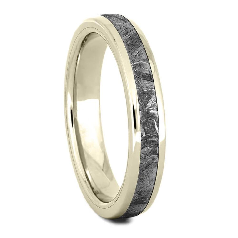 Thin White Gold Meteorite Wedding Band 3.5 mm-4381WG - Jewelry by Johan