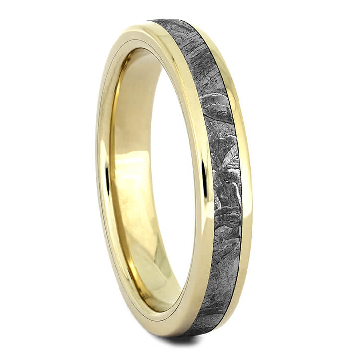 Women's Yellow Gold Meteorite Wedding Band-4381YG - Jewelry by Johan