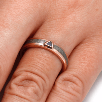 Tanzanite Engagement Ring In 14k Rose Gold-2224 - Jewelry by Johan