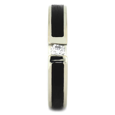 Thin White Gold Women's Wedding Band