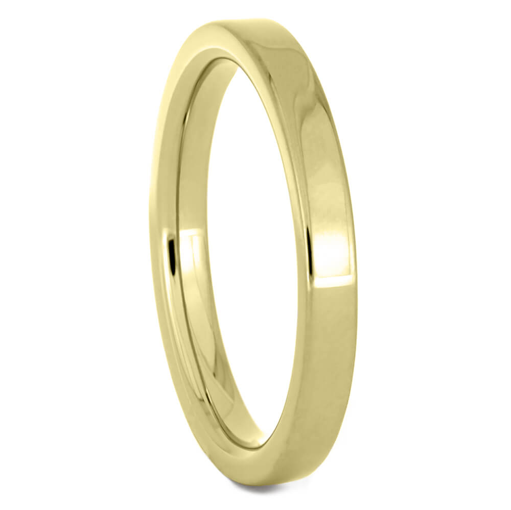 Thin 2mm Yellow Gold Wedding Band-4428YG - Jewelry by Johan