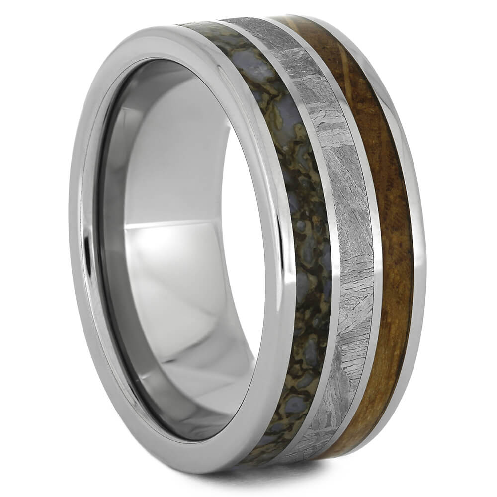 Triple Inlay Wedding Band