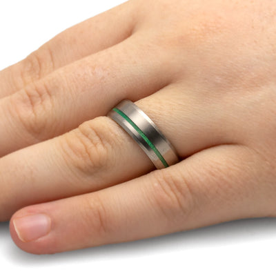 Ring With Green Pinstripe