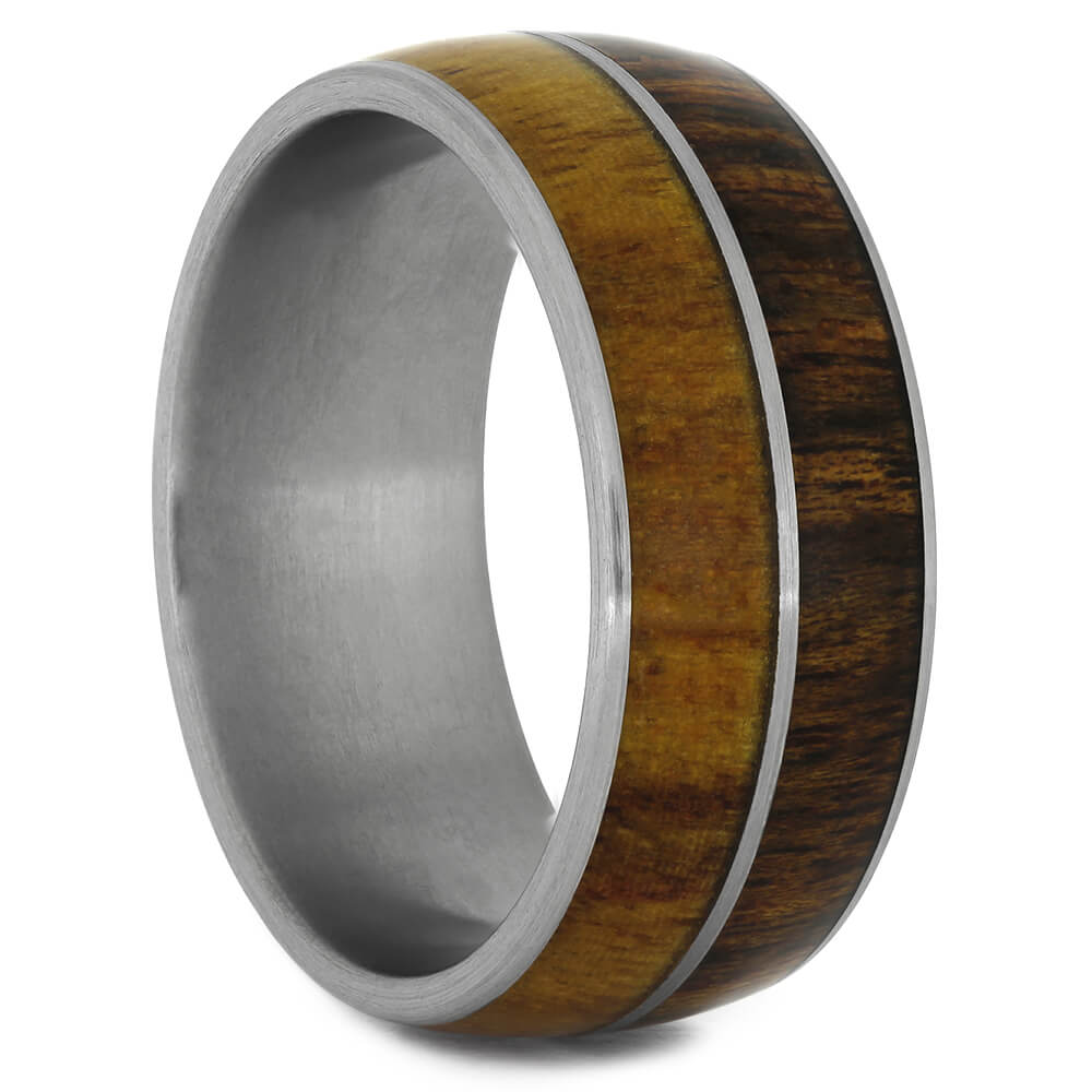 Rosewood and Canary Wood Wedding Band-4462 - Jewelry by Johan