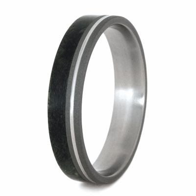 Titanium Ring with Wood