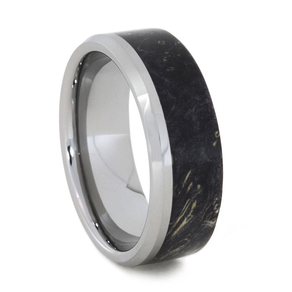 Tungsten Wedding Band with Black Box Elder Burl-3145 - Jewelry by Johan
