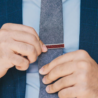 Red Stardust™ Tie Clip-4504 - Jewelry by Johan