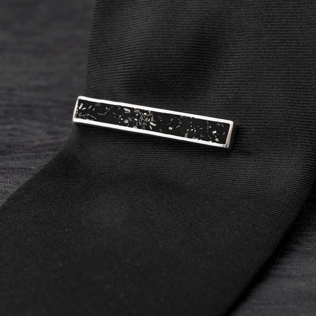 Black Stardust™ Tie Clip-4504 - Jewelry by Johan