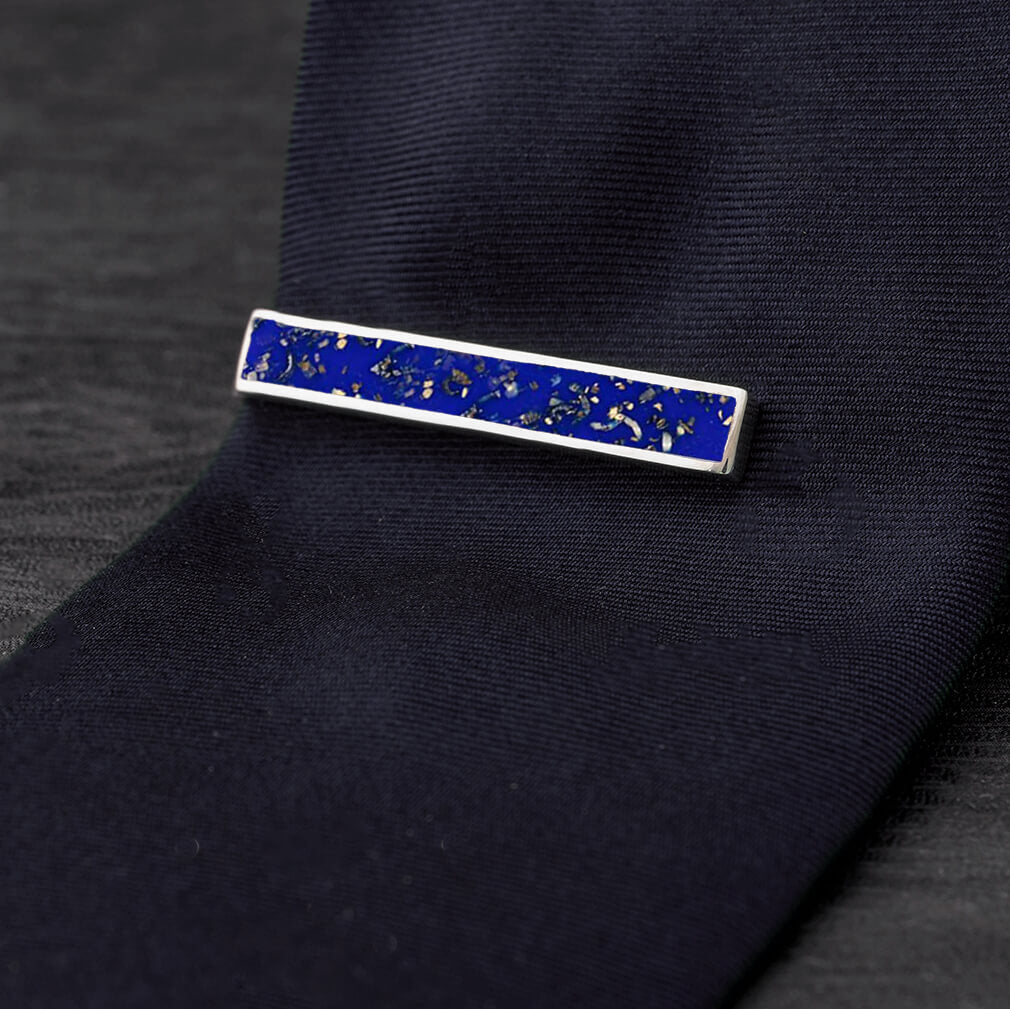 Blue Stardust™ Tie Clip-4504 - Jewelry by Johan