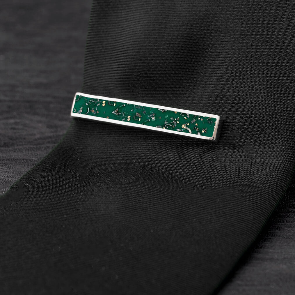Green Stardust™ Tie Clip-4504 - Jewelry by Johan