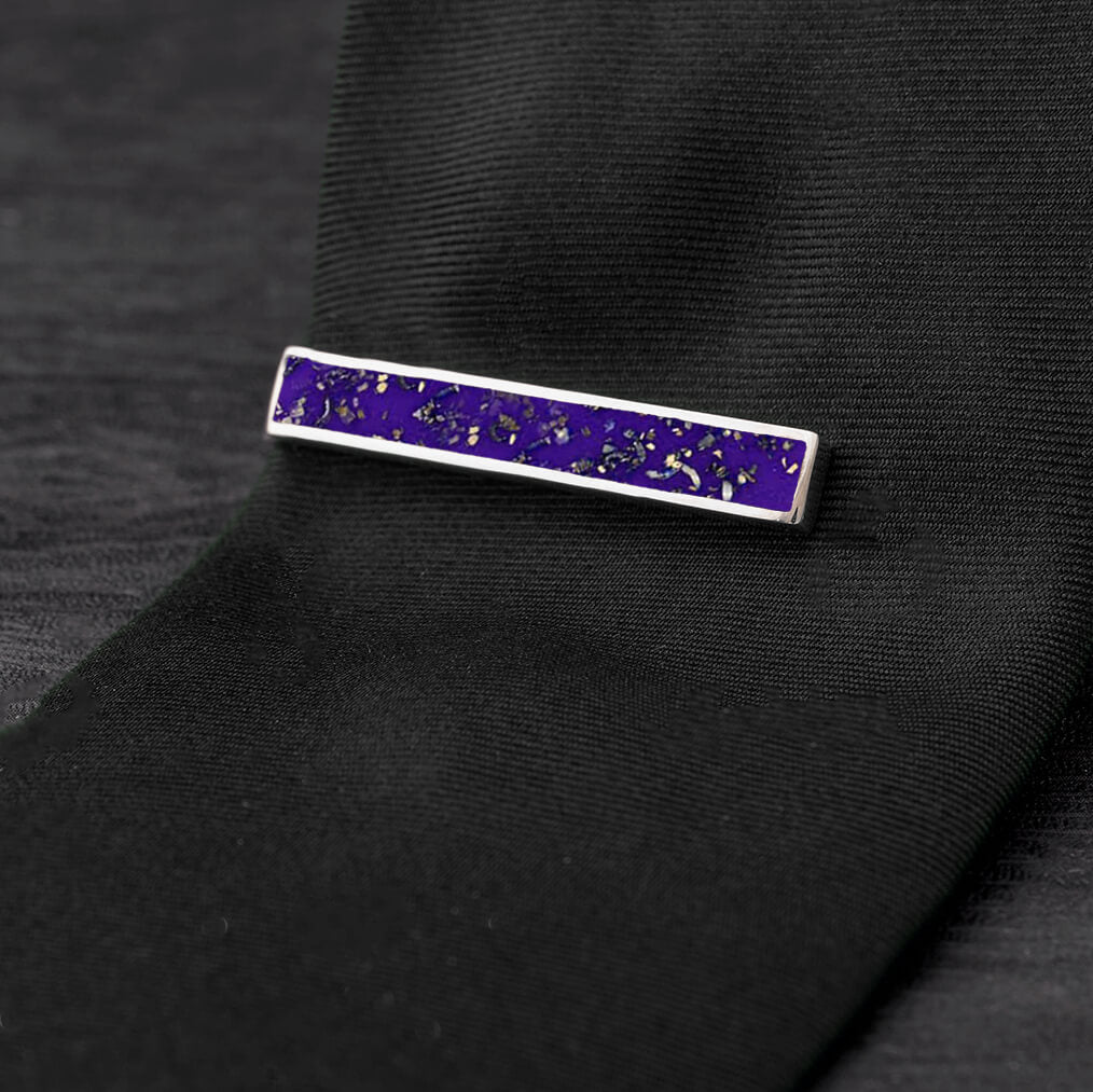 Purple Stardust™ Tie Clip-4504 - Jewelry by Johan