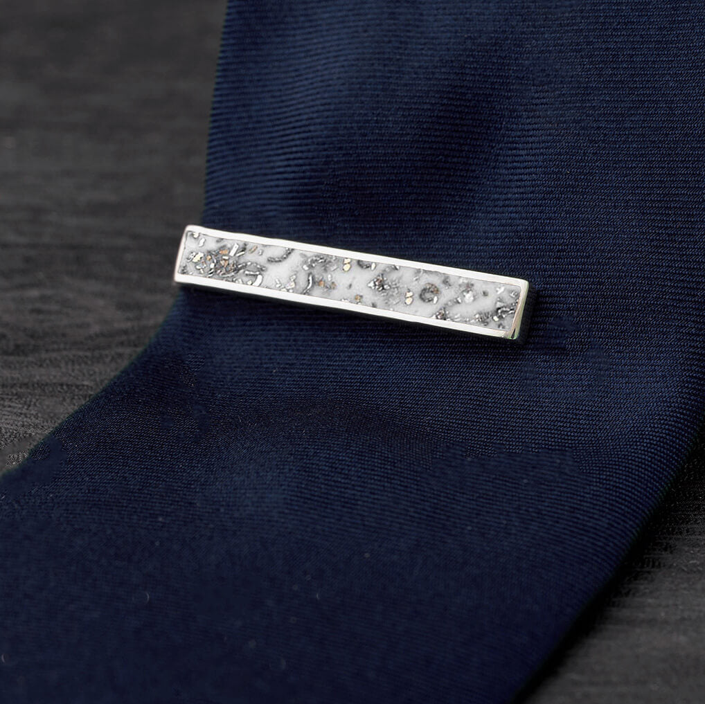 White Stardust™ Tie Clip-4504 - Jewelry by Johan