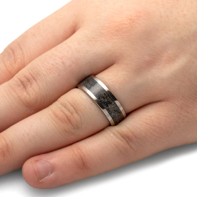Black Antler Wedding Band