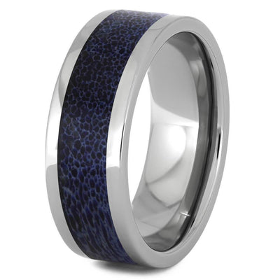 Polished Titanium Men's Wedding Band