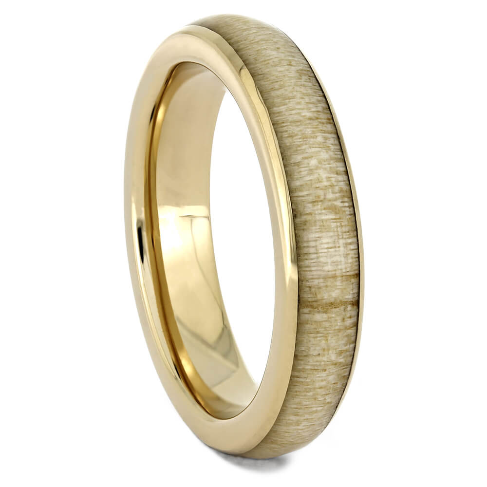Thin Yellow Gold Wood Wedding Band-4515 - Jewelry by Johan