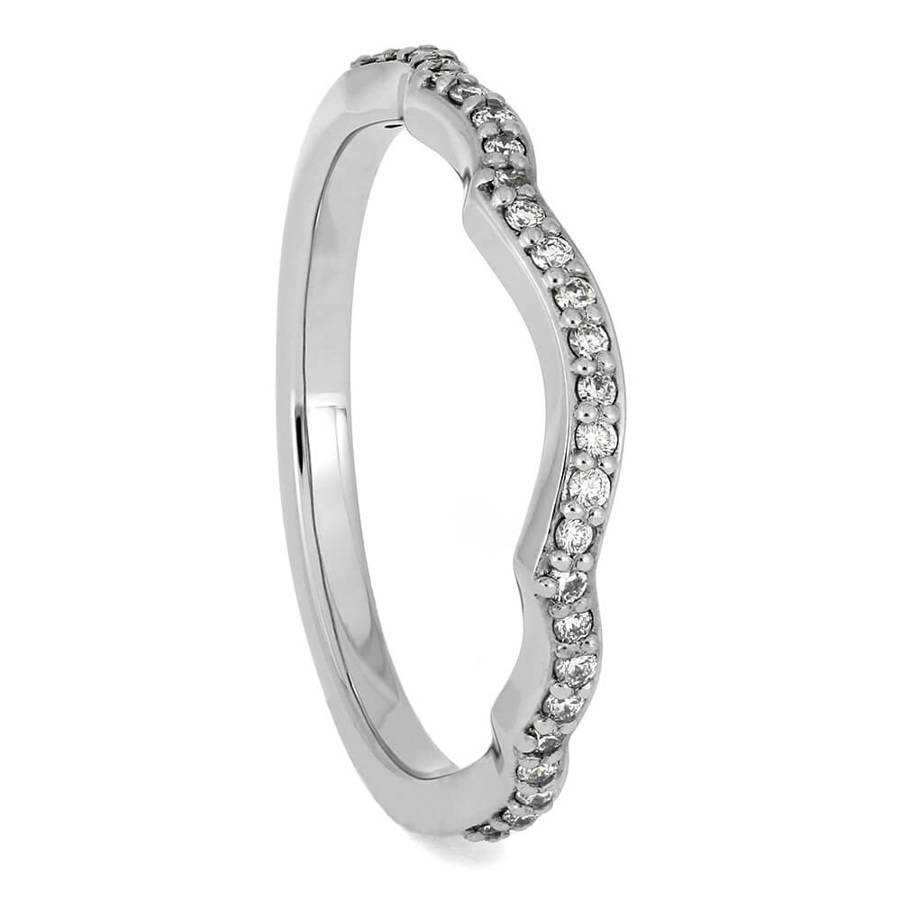 Women's Wedding Band with Diamond Accents Set in Platinum-4568 - Jewelry by Johan