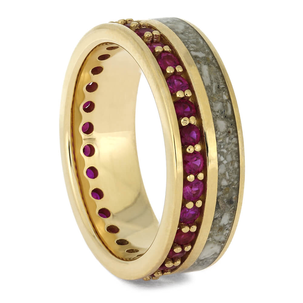 Memorial Ring with Yellow Gold and Ruby Eternity-4643 - Jewelry by Johan