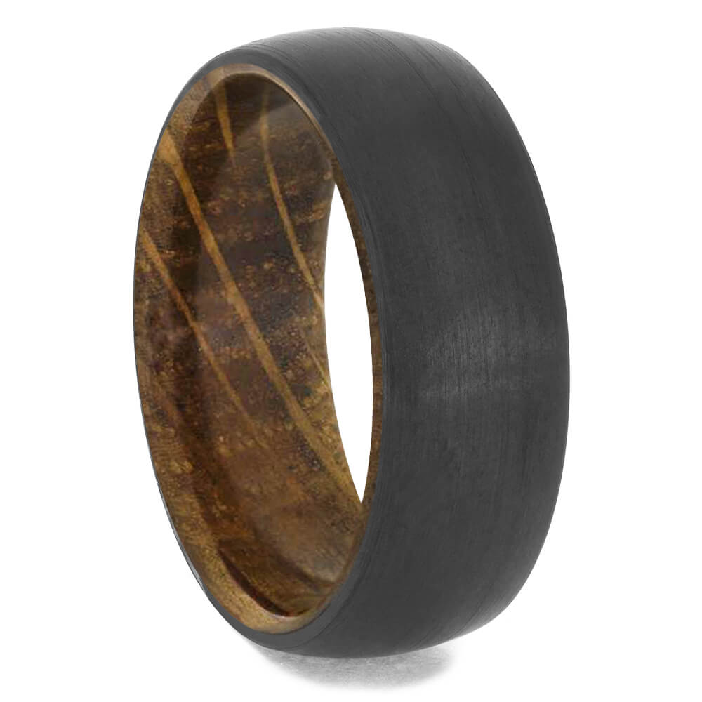 Whiskey Barrel Oak Ring with Black Zirconium Overlay-4658-WDP - Jewelry by Johan