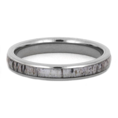 Thin Deer Antler Wedding Band