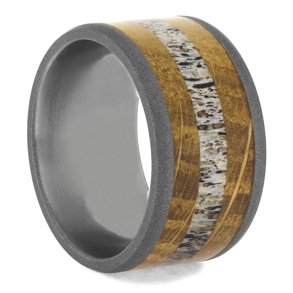 Whiskey Barrel Oak Wood Wedding Band