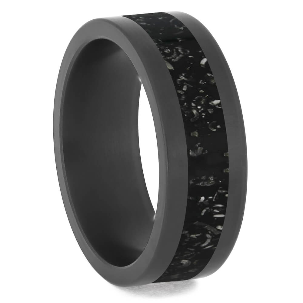 Black Stardust & Zirconium Men's Wedding Band, Multiple Color Options-4750 - Jewelry by Johan