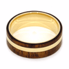 14k Yellow Gold Koa Wood Wedding Band-2077 - Jewelry by Johan