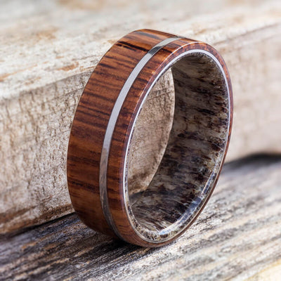 Rosewood Ring With Pinstripe