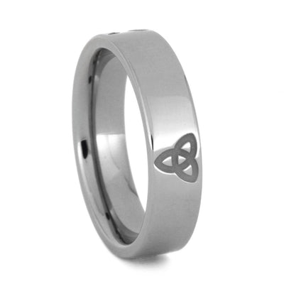 Titanium Ring with Jesus Fish