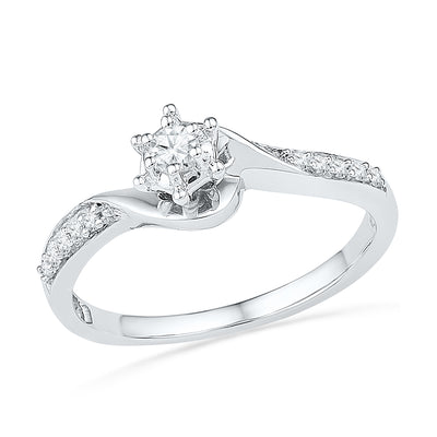 Diamond Fashion Engagement Ring, Sterling Silver Ring-SHRP024953-SS - Jewelry by Johan