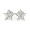 Star Stud Earrings with Diamond