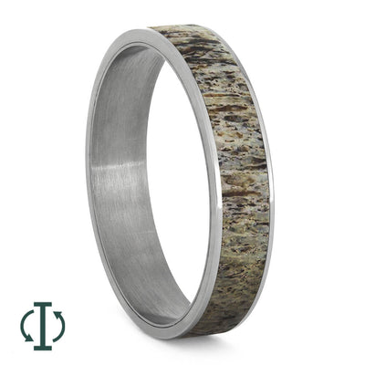 Deer Antler Inlays For Interchangeable Rings, 5MM or 6MM-INTCOMP-ANT - Jewelry by Johan