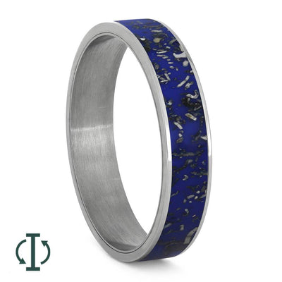 Space Inspired Inlay with Titanium Edges