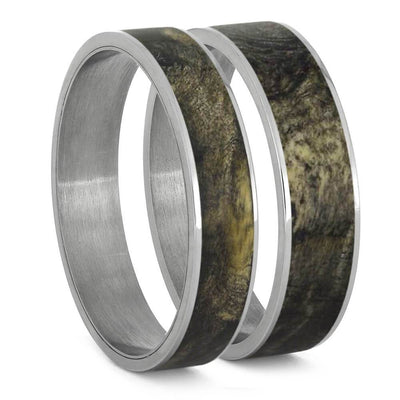 Buckeye Burl Wood Inlays For Interchangeable Rings, 5MM or 6MM-INTCOMP-WD - Jewelry by Johan