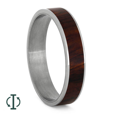 Wood Component for Titanium Interchangeable Ring