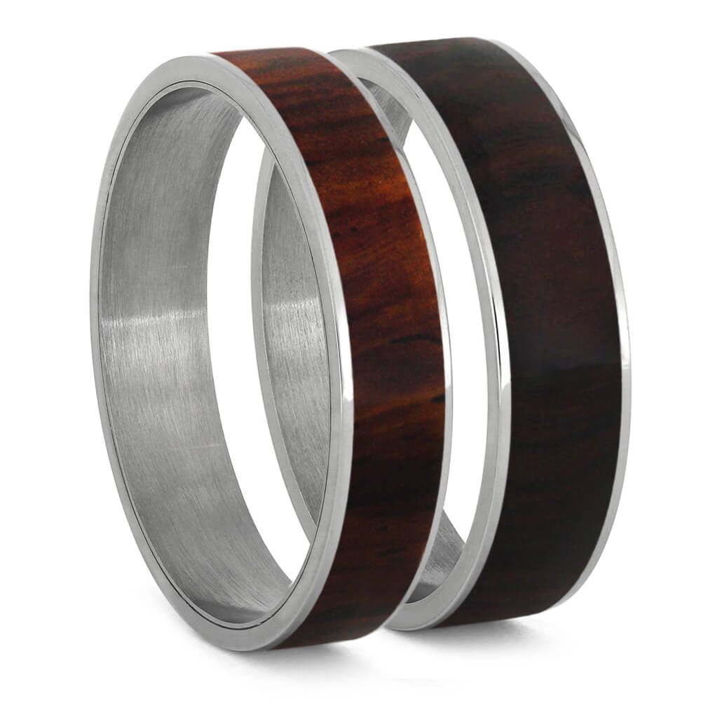 Cocobolo Wood Inlays For Interchangeable Rings, 5MM or 6MM-INTCOMP-WDX - Jewelry by Johan