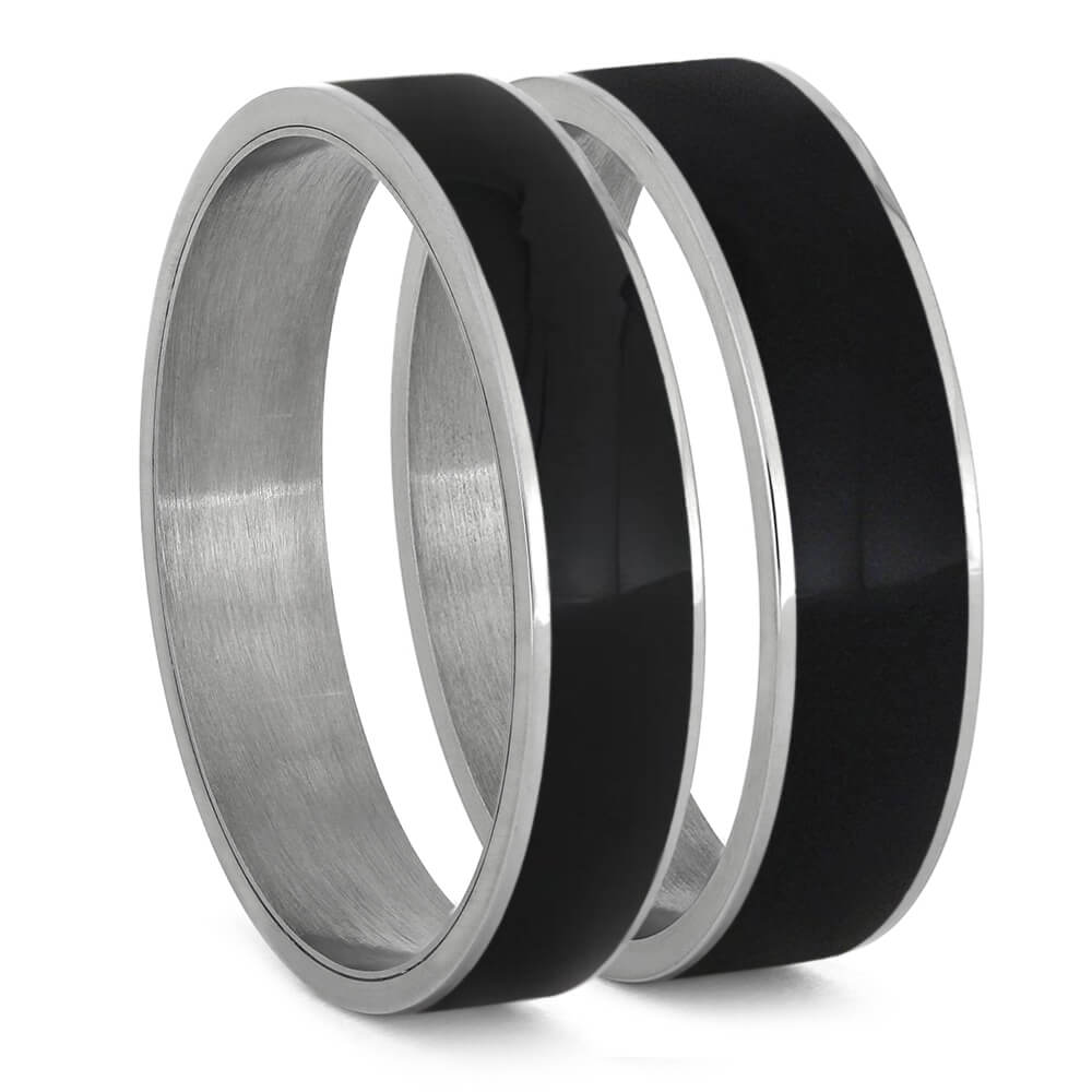 Ebony Wood Inlays For Interchangeable Rings, 5MM or 6MM-INTCOMP-WD - Jewelry by Johan