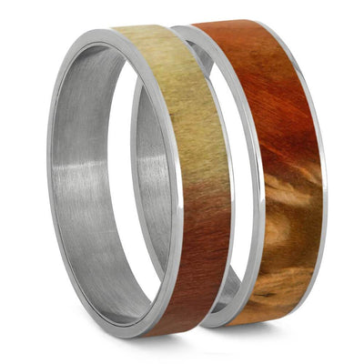 Flame Box Elder Burl Wood Inlays For Interchangeable Rings, 5MM or 6MM-INTCOMP-WD - Jewelry by Johan