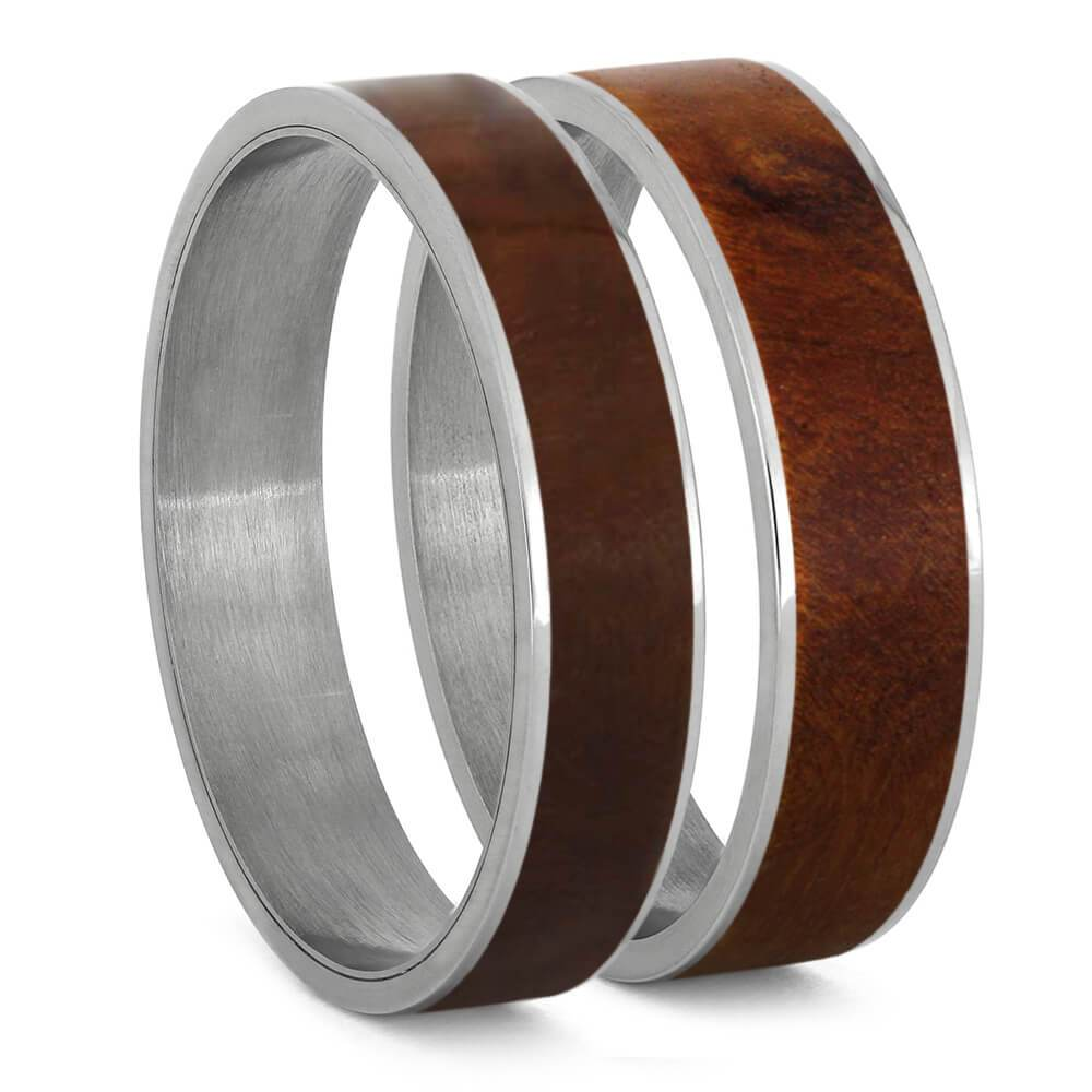 Ironwood Burl Wood Inlays For Interchangeable Rings, 5MM or 6MM-INTCOMP-WDX - Jewelry by Johan