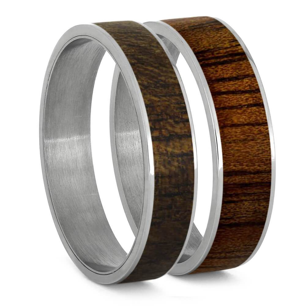 Koa Wood Inlays For Interchangeable Rings, 5MM or 6MM-INTCOMP-WD - Jewelry by Johan