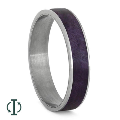 Purple Wood Interchangeable Component in Titanium