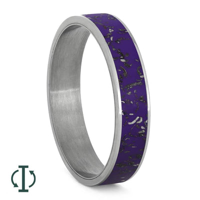Purple Stardust™ Inlays For Interchangeable Rings, 5MM or 6MM-INTCOMP-SD - Jewelry by Johan