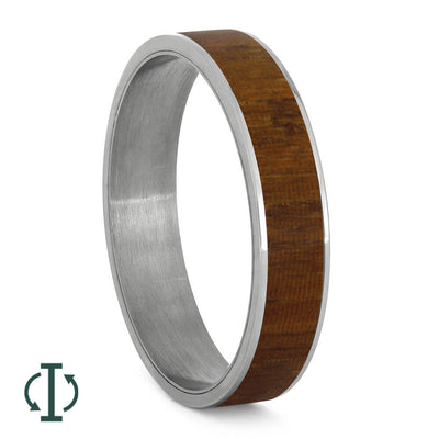 Queen Wood Component for Twist Titanium Ring