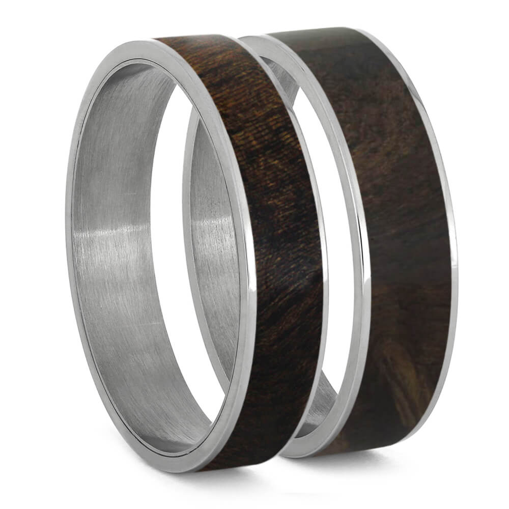 Exotic Sindora Wood Inlays For Interchangeable Rings, 5MM or 6MM-INTCOMP-WDX - Jewelry by Johan
