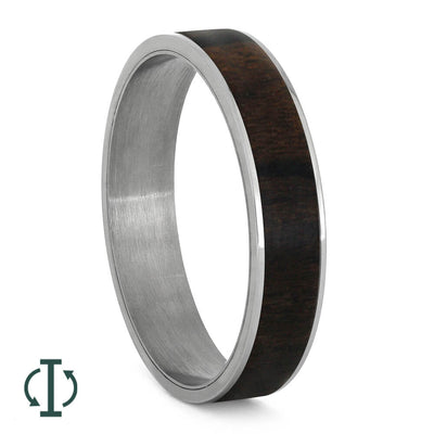 Ziricote Wood Inlays For Interchangeable Rings, 5MM or 6MM-INTCOMP-WD - Jewelry by Johan