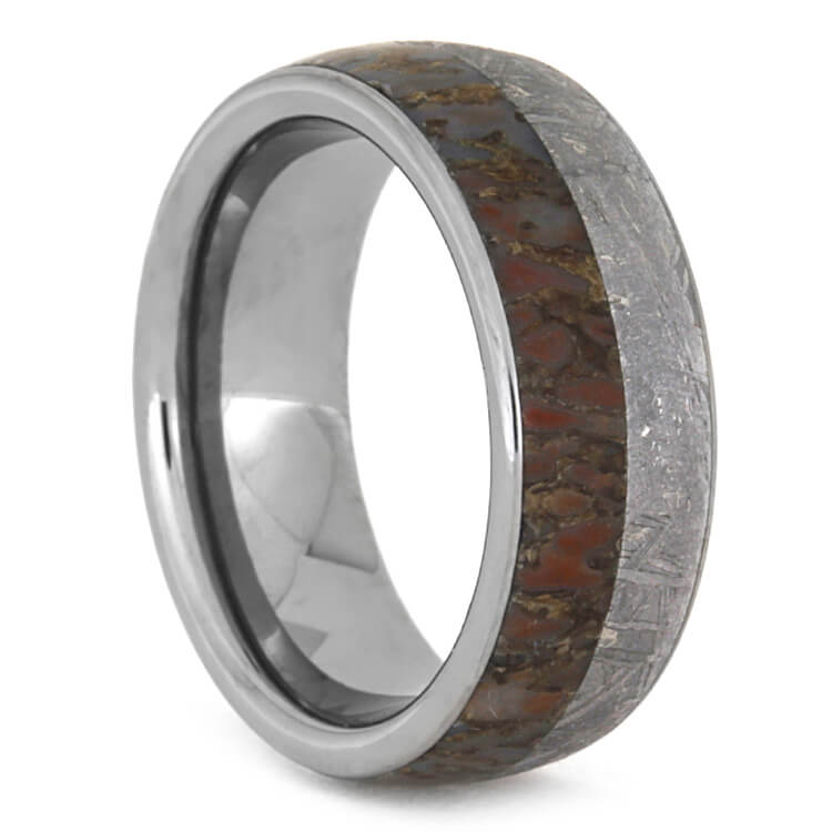Fossil Wedding Band With Meteorite And Tungsten, Size 825. Inlay Engagement Rings. Budget Engagement Engagement Rings. Vancaro Wedding Rings. Tension Engagement Rings. Zodiac Sign Engagement Rings. Female Celebrity Wedding Engagement Rings. Weddign Wedding Rings. Happy Wedding Wedding Rings