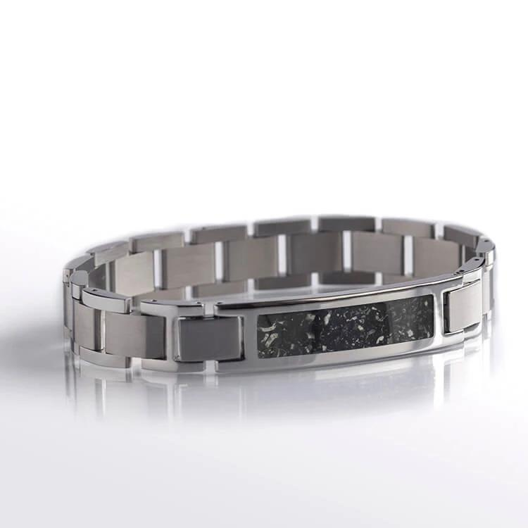 Black Stardust Stainless Steel Interchangeable Bracelet