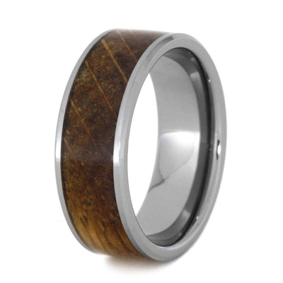 Whiskey Barrel Wood Ring In Tungsten Wedding Band-3212 - Jewelry by Johan
