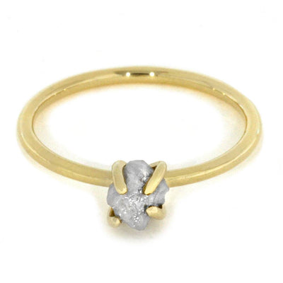 Rough Diamond Ring In Thin 10k Yellow Gold-2866 - Jewelry by Johan