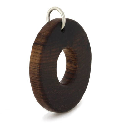 Circle Wood Pendants with Bail(2)